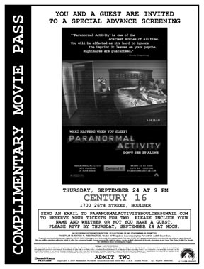 Paranormal Activity part one
