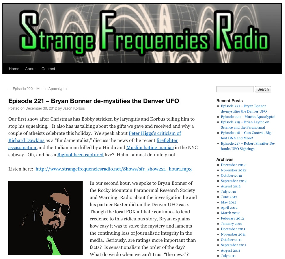 Strange Frequencies Radio